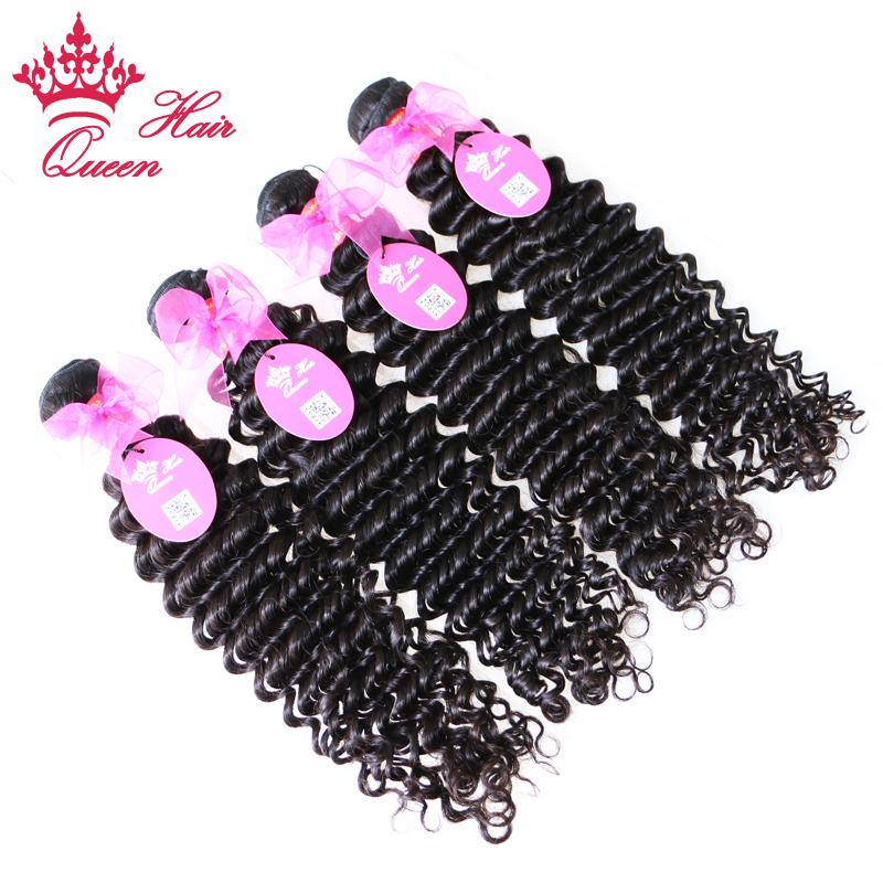 Productos para el cabello de la reina Extensiones de cabello virgen rizado brasileño Longitud mixta 12