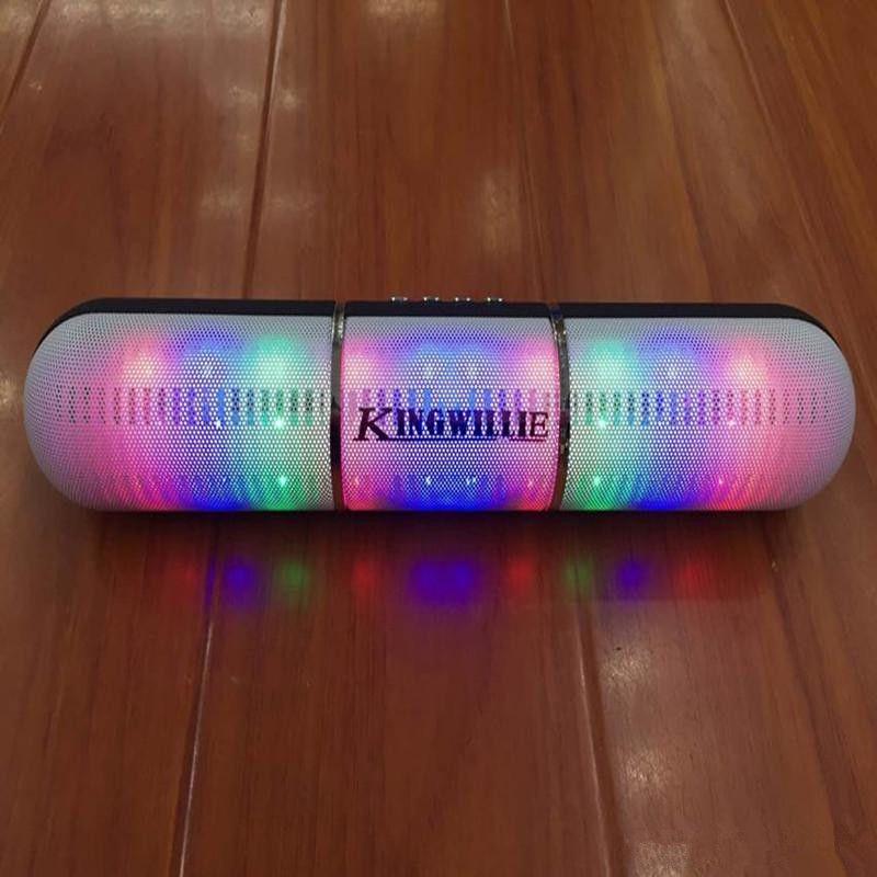 New Pulse Pills Led Flash Lighting JHW-V318 Portable Wireless Bluetooth Speaker Bulit-in Mic Handsfree Speakers Support FM USB Free DHL Hot