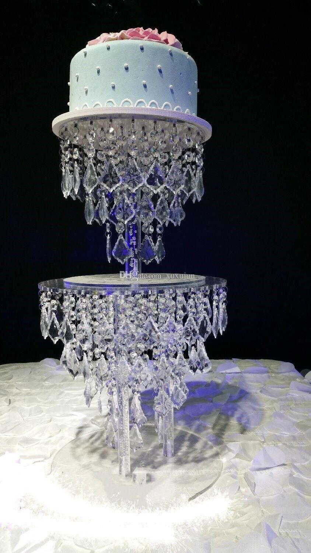 Alzata torta nuziale in cristallo acrilico decorazione di nozze, centrotavola matrimonio
