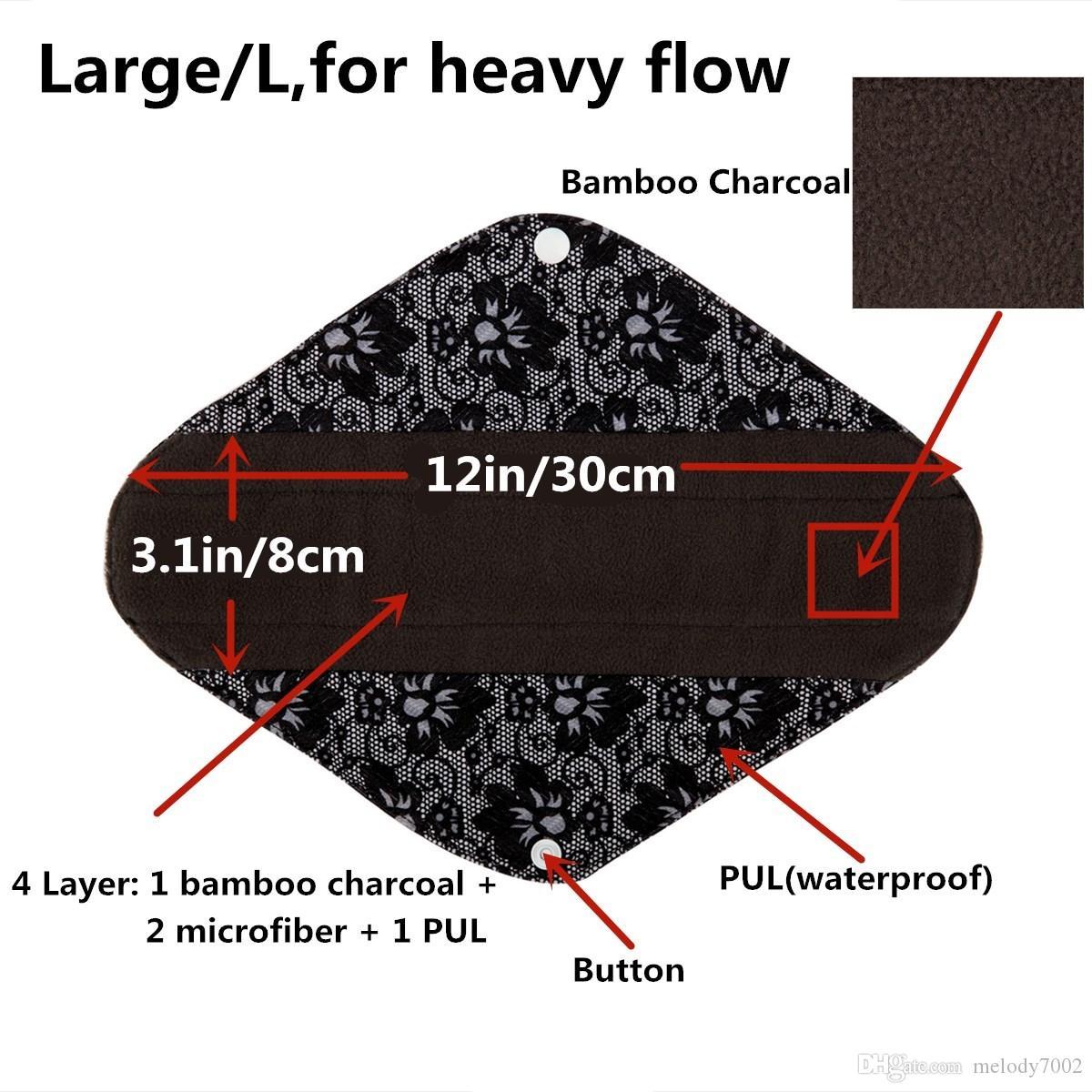 [Sigzagor] وسادات فحم بامبو من القماش الكثيف كبيرة الحجم ، مقاس 12 بوصة ، وسائد ماما قابلة للحمل ، قابلة لإعادة الاستخدام وقابل للغسل ، L 21 اختيارات