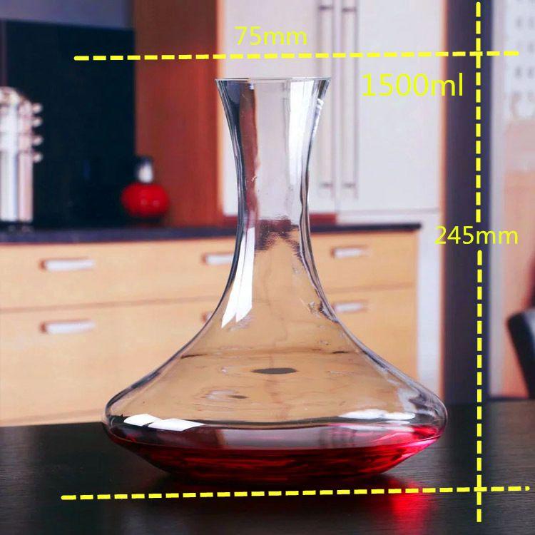 1500mlユニークなタンブラーガラスワインデカンターカラフェの水ジャグワインコンテナディスペンサーワインアレスターエアレーターガラスデカンターパロールJ1100