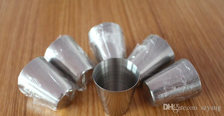 DHL Free /30ml Portable Stainless Steel Shot Glasses Barware Beer Wine Drinking Glass Outdoors Cup