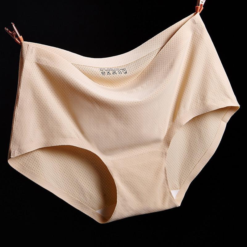 2017 Hot En Gros Pression Sans Soudure évider Mesdames sous-vêtements glace soie mémoires Taille: M L XL Livraison gratuite Usine vente directe WH033