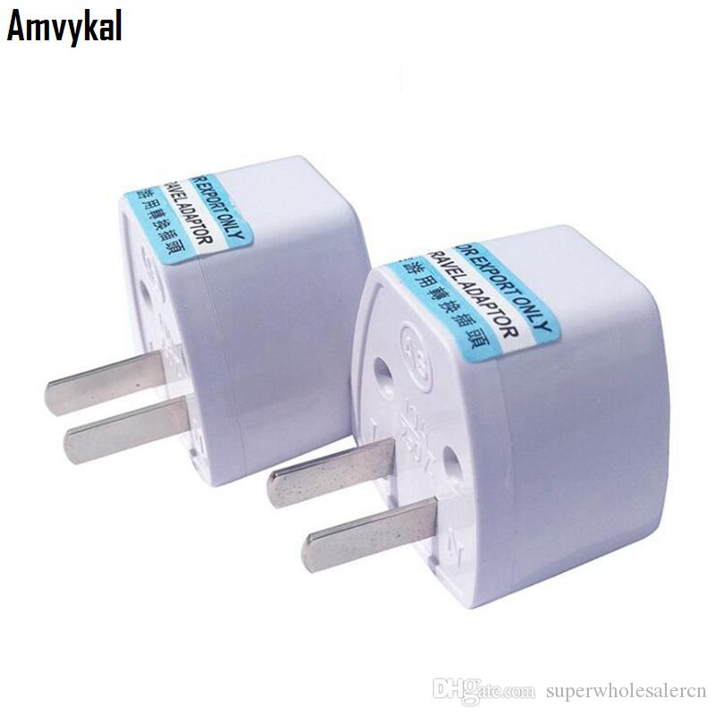 Amvykal 높은 품질 여행 충전기 AC 전기 전원 영국 AU 유럽 연합 EU 우리 플러그 어댑터 컨버터 USA 범용 전원 플러그 어댑터 커넥터
