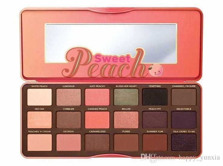 Envío gratuito ePacket! Nueva Sweet Peach Eyeshadow Palette 18 Colors Eyeshadow!