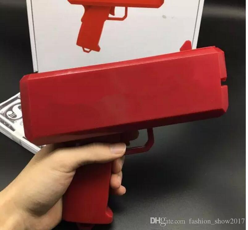 Cash Money Gun Toy Make It Rain Money Billetes de banco de escupir juguetes para niños regalo de navidad juguetes divertidos