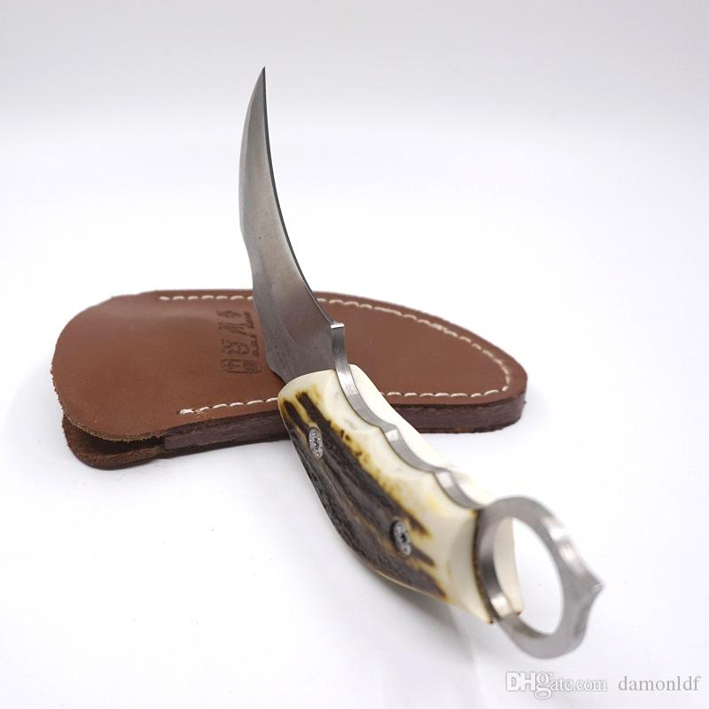 Scorpion Claw Knife Karambit Survival Fixed Blade Combat Camping Knife With ABS Leather Sheath 59HRC Blade AUS-8A