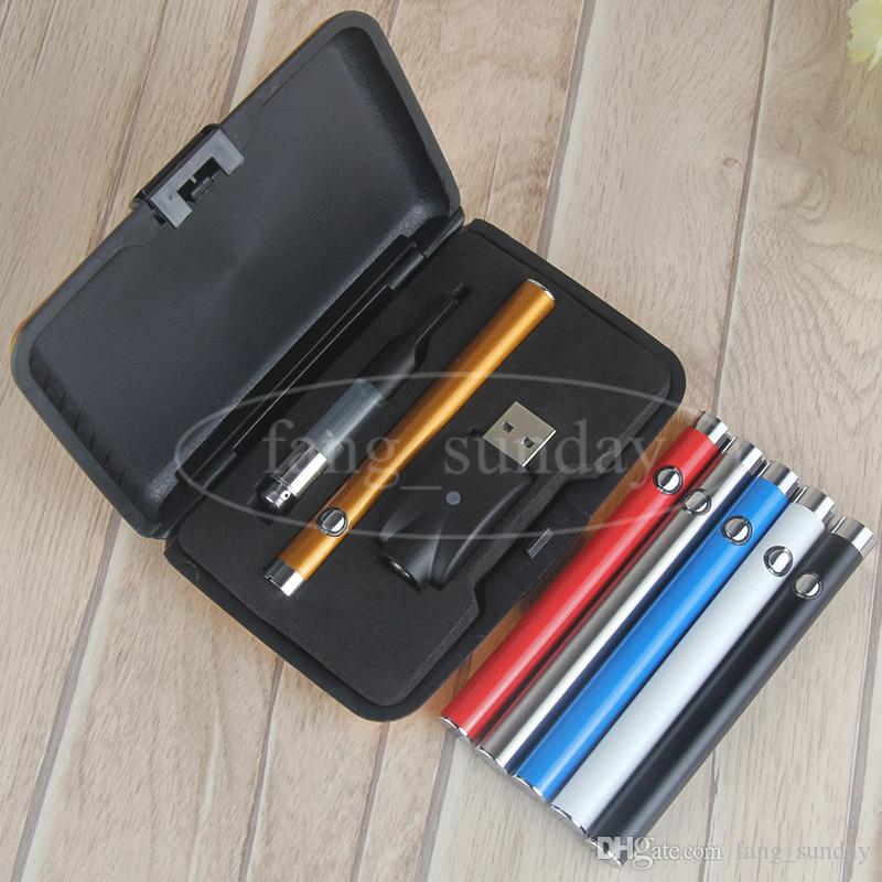 Wax Oil Manual Button Vapes Pens Plastic Case 280mah Mini Slim Vape Pen Battery .5ml 1ml Vaporizer Cartridges CE3 Clearomizer