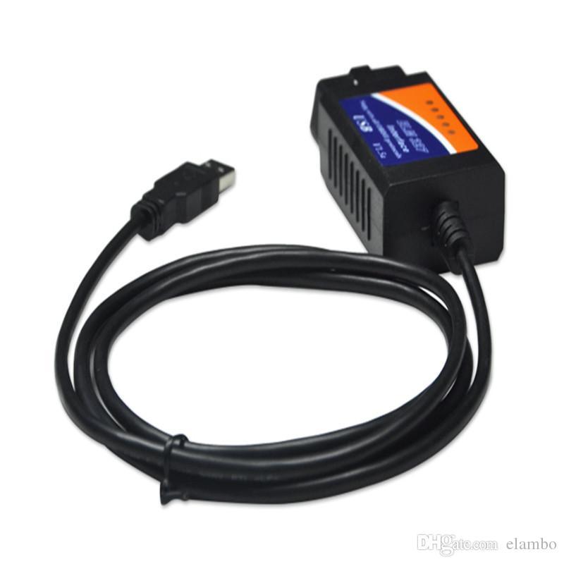최신 버전 OBD2 / OBDII 스캐너 ELM327 USB v1.5 공용 영역 ELM 327 USB 공용 영역 OBDII CAN-BUS 스캐너