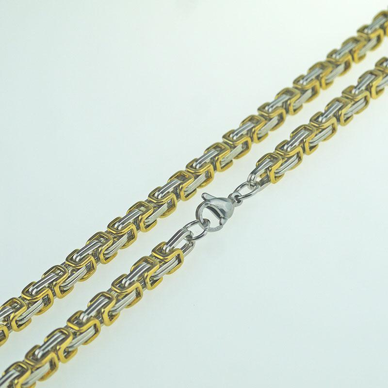 304 stainless steel chain of foreign trade wholesale jewelry U-shaped interlocked necklace male models of steel and gold hip-hop style lobst