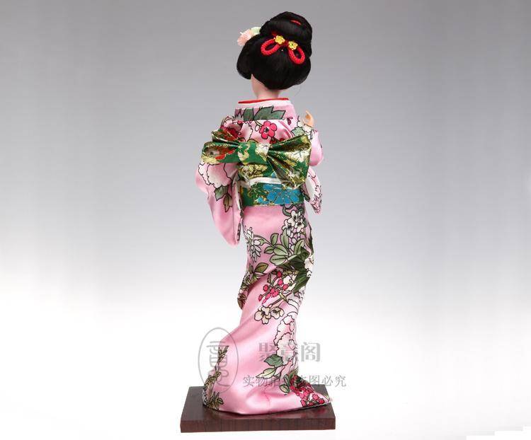 Kimono giapponese bambola bambola ornamenti decorazioni Giappone geisha seta artigianato Tang Fang