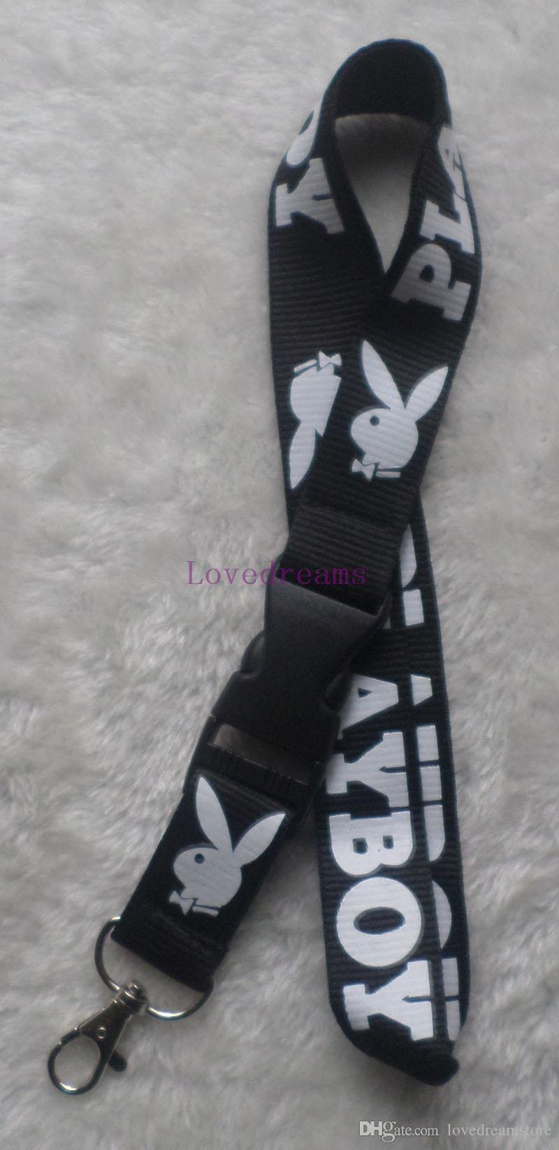 New Clothing brand playboy Lanyards Detachable ID Badge Holder Assorted Colors Brand New Black