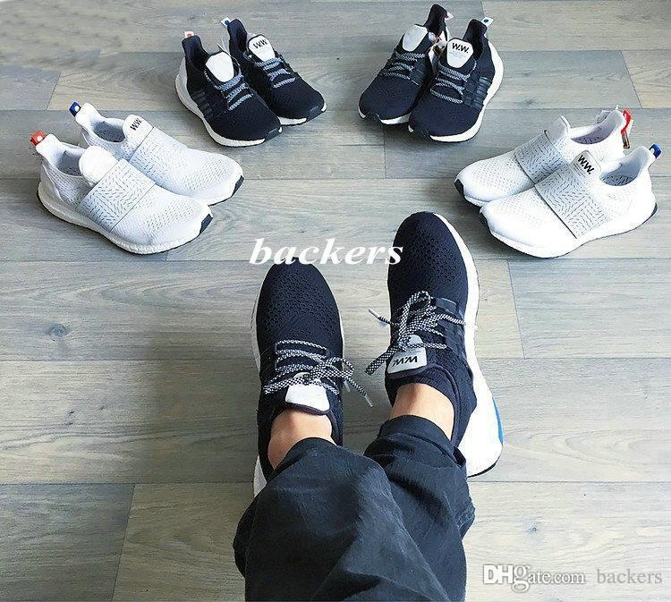 brand new 6b684 6f0c6 Compre 2017 Ultra Boost X Madera Madera W Constructores Wmns Zapatos Hombre  Mujeres UltraBoost Baratos Zapatillas Clásicas Negro Blanco Tamaño 36 44  Free ...