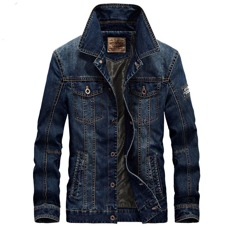 Fashion 2017 Men'S Denim Jacket Men Military Jeans Jacket Top ...