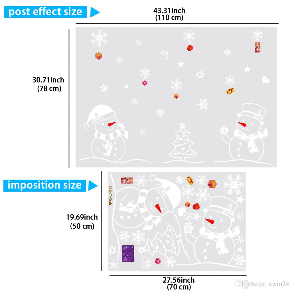 Removable Snowflakes Sticker Xmas Home Decor Wall Stickers Window Wall Car Indoor Outdoor Decor 3 Style