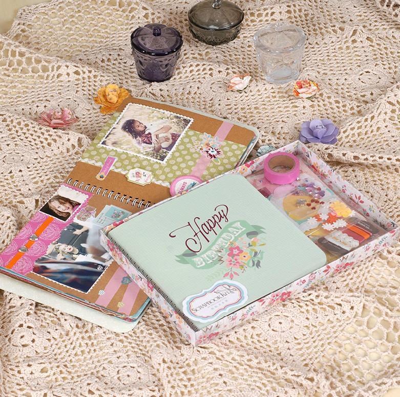 Diy Photo Album Cute Albums For Baby Scrapbooking Set Scrapbook Kit