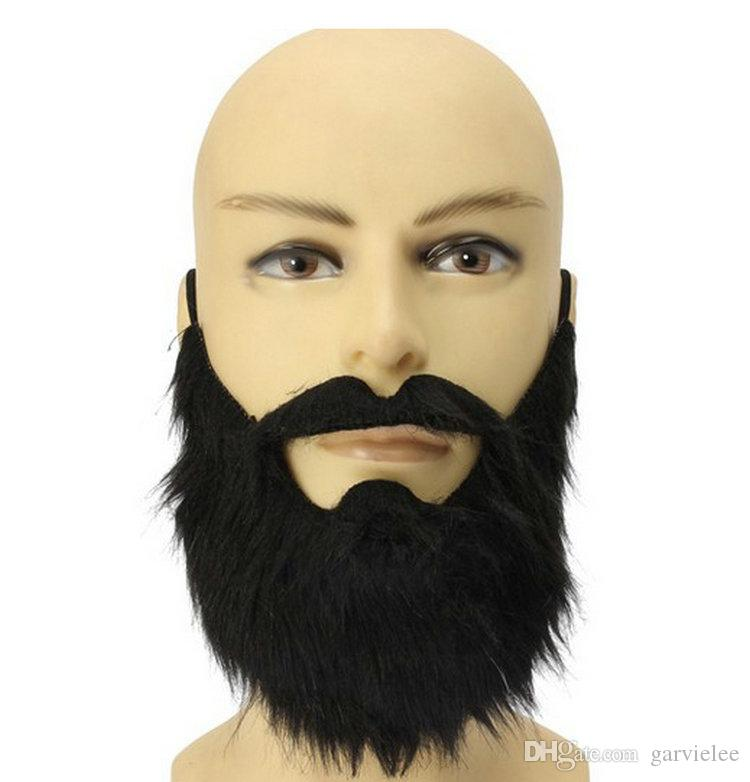 ca73ca3e8410 Wholesale New Arrival Costume Party Halloween Fake Mustache Moustache Funny Fake  Beard Whisker For Pirate Dwarf Elf James Harden DH053 Face Masks For Party  ...