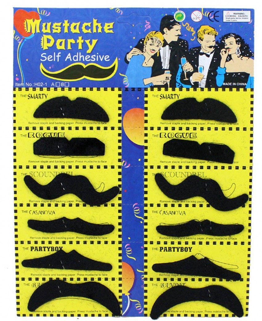 Nuova spedizione gratuita 12 in 1 falsa barba Halloween Party Costume Baffi Babbo Natale Barba Humor Christmas Xmas Giocattolo regalo