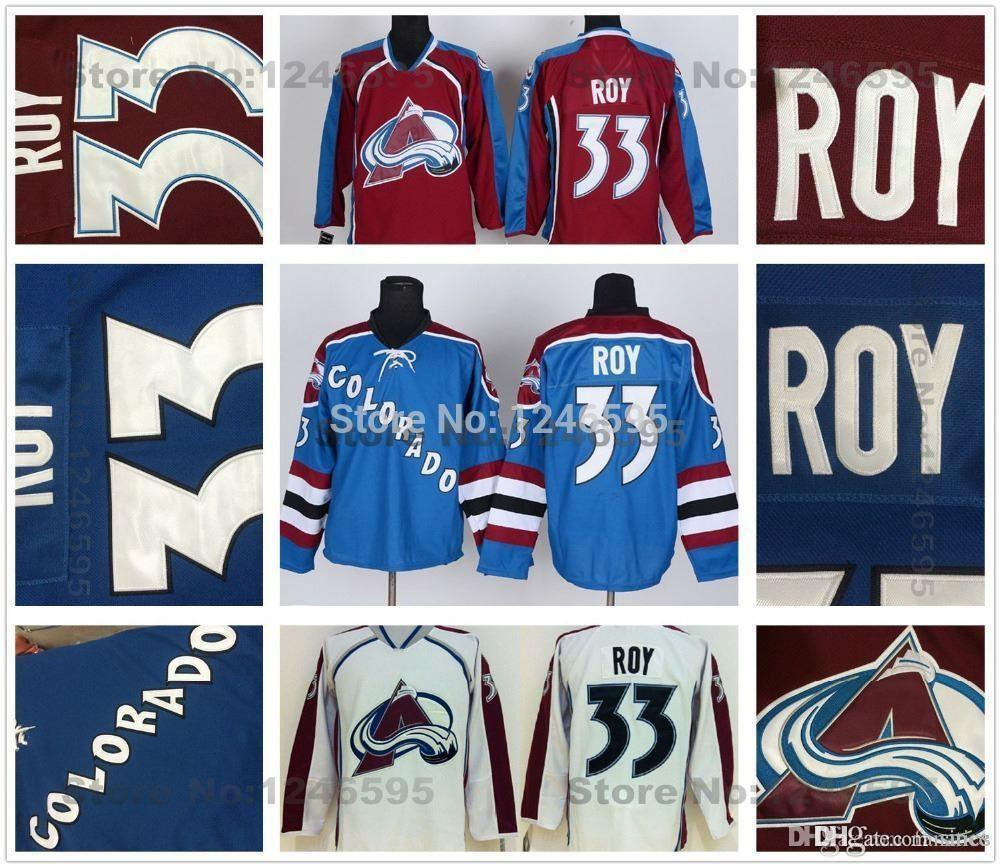 Online Cheap 2016 Cheap Colorado Avalanche Jerseys #33 Patrick Roy Jersey  Avalanche Burgundy Red White Third Steel Blue Patrick Roy Hockey Jersey By  Since ...