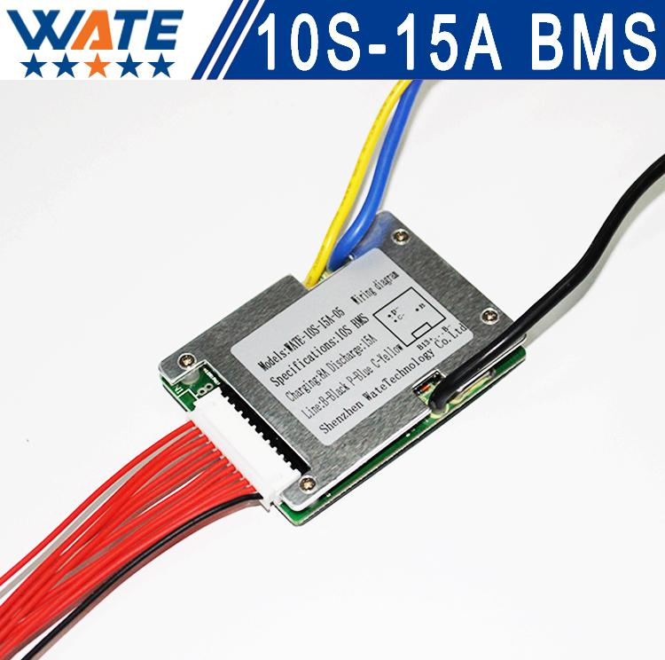 Wholesale- 3 6V/3 7V cell 10S 36V 10A/15A BMS Used for 36v 10ah 12ah 15ah  battery 15A continuous 50A peak discharge With balance function