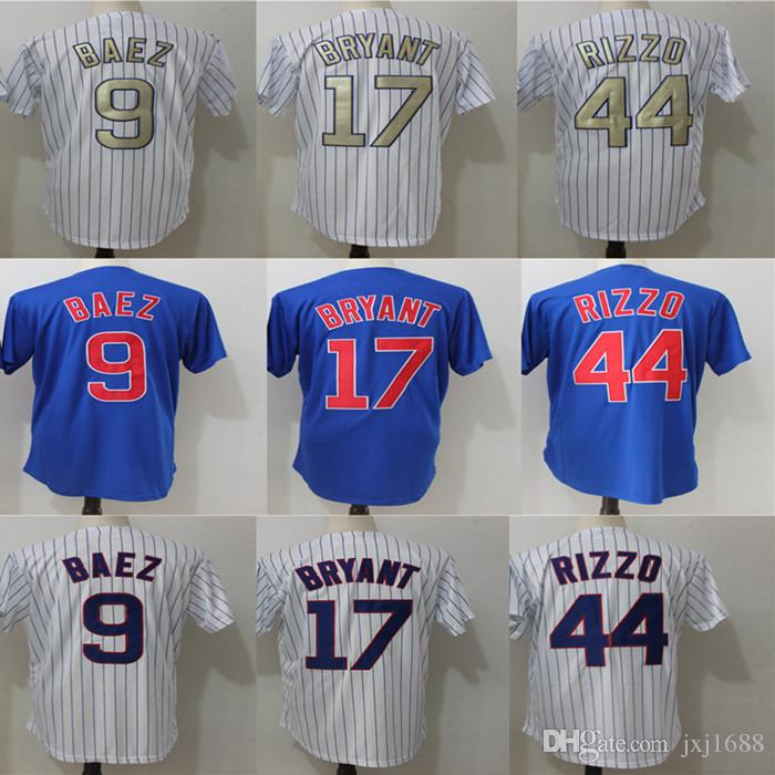 dad988e3306 ... Cooperstown Player Jersey Livraison Gratuite 2017 Men Chicago Jersey 17  Kris Bryant 44 Anthony Rizzo 9 Javier Baez Stitched Authentic Baseball ...
