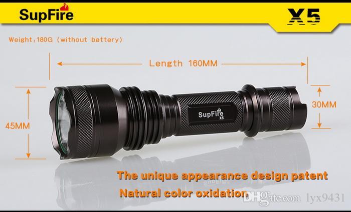 LED El Feneri En İyi Kalite Yüksek Performanslı 1100 lümen 10 W su geçirmez CREE XML T6 LED Torch 5 Modu Şarj Edilebilir Güçlü Işık Süper Parlak