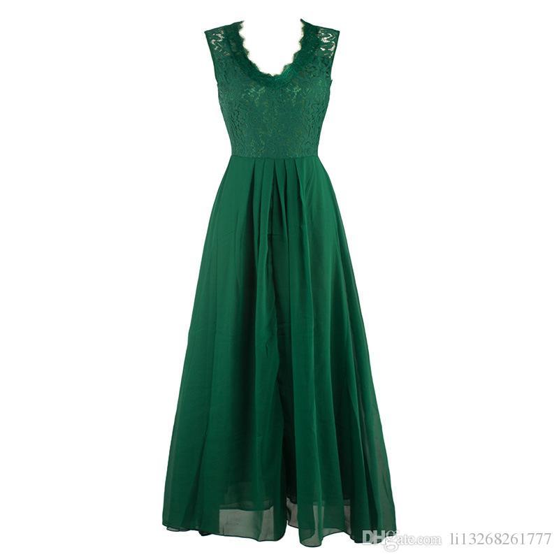 Женщины длинные платья шифон вечер Пром повседневная лето 2017 рукавов Sexy Maxi Dress тонкий элегантный дамы женский Party Vestidos