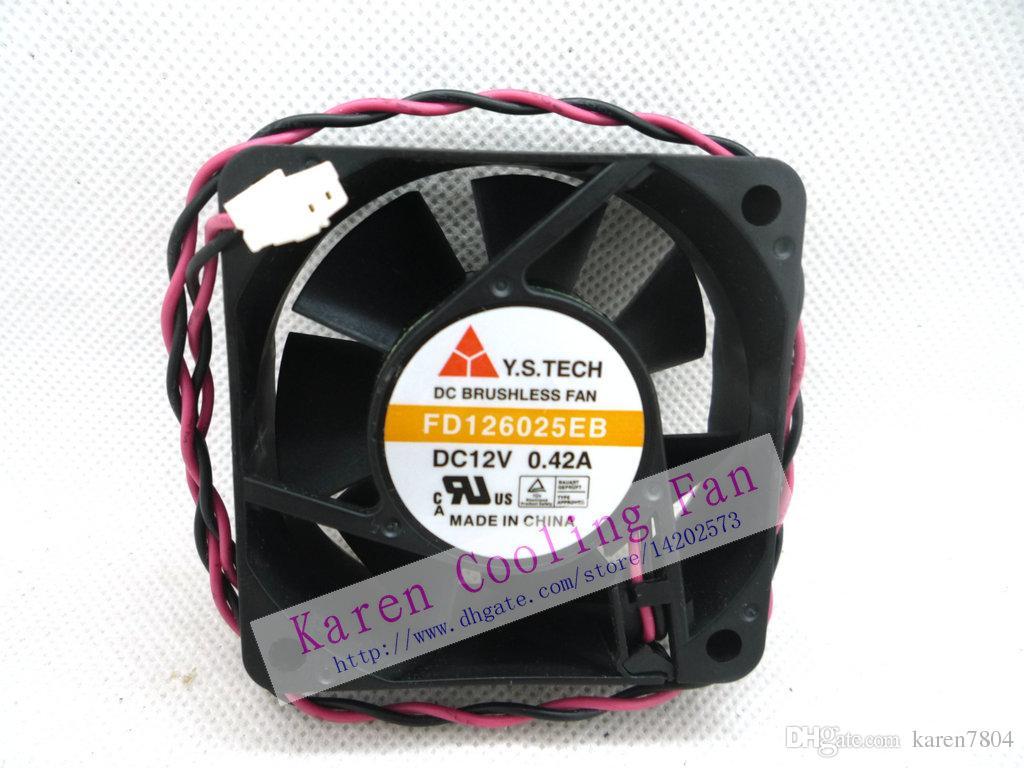 جديد الأصلي Y.S.TECH FD126025EB 60 * 60 * 25MM 6cm 12V 0.42A مروحة التبريد