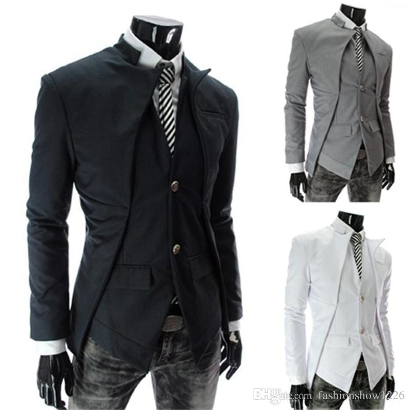 2017 New British Style Slim Men Suits Mens Stylish Design Blazer ...