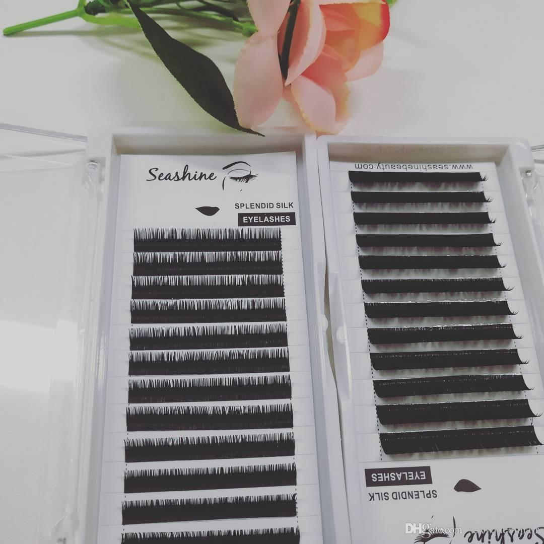 Wholesale Individual Eyeashes Own Brand Top Quality C D L Curl 1 Trays 12 Rows Mixedclassical Eyelashes Extension Free Shipping False Eyelashes