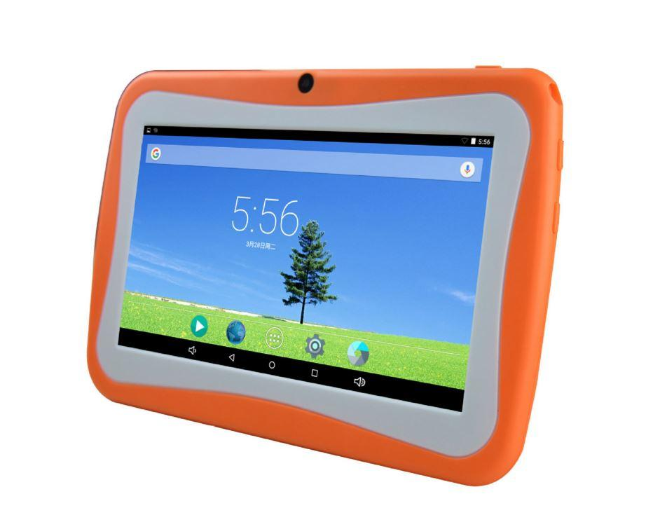 """Cheap 7 inch 7"""" Children's tablet Quad Core Allwinner A33 Android 4.4 KitKat Capacitive 1.5GHz 512MB 4GB Dual Camera with Silica case"""