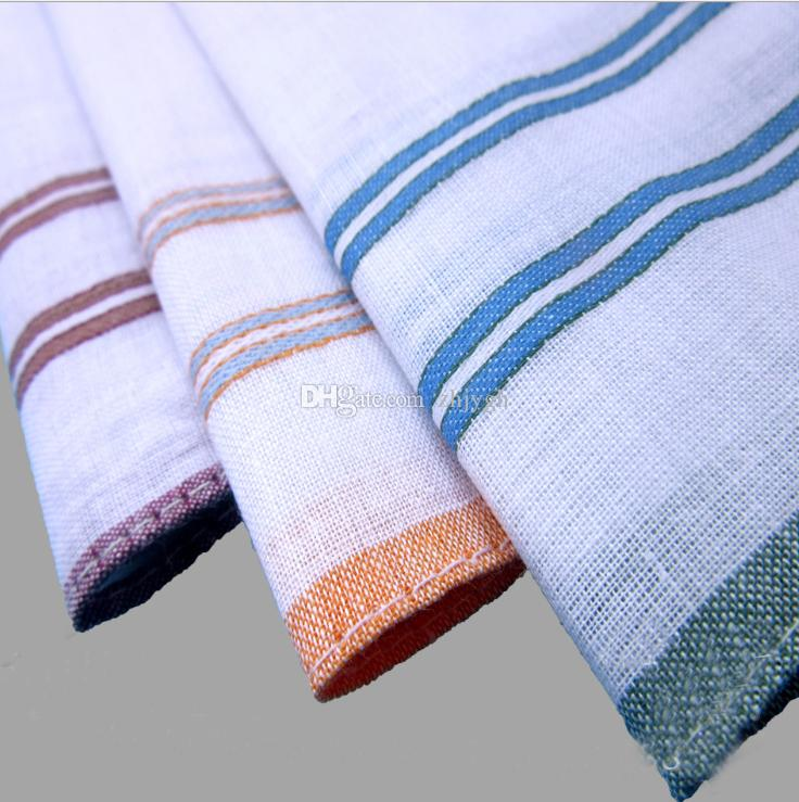 Factory wholesale men's fine handkerchiefs, / cotton satin weaving small square, a variety of styles