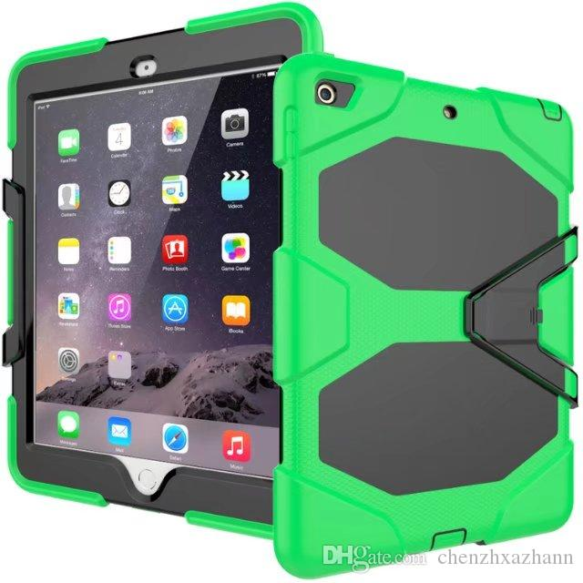 For iPad mini 1 2 3 Version Hybrid Armor Waterproof Shockproof Dustproof Kids Safe Stand silicon Case for Cover For iPad mini123 Shell+pen