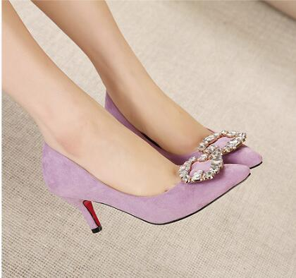 Women Pumps Sexy High Heels 7CM Pointed Toe Party Shoes Ladies Wedding Office Pumps Light Mouth Single Shoes