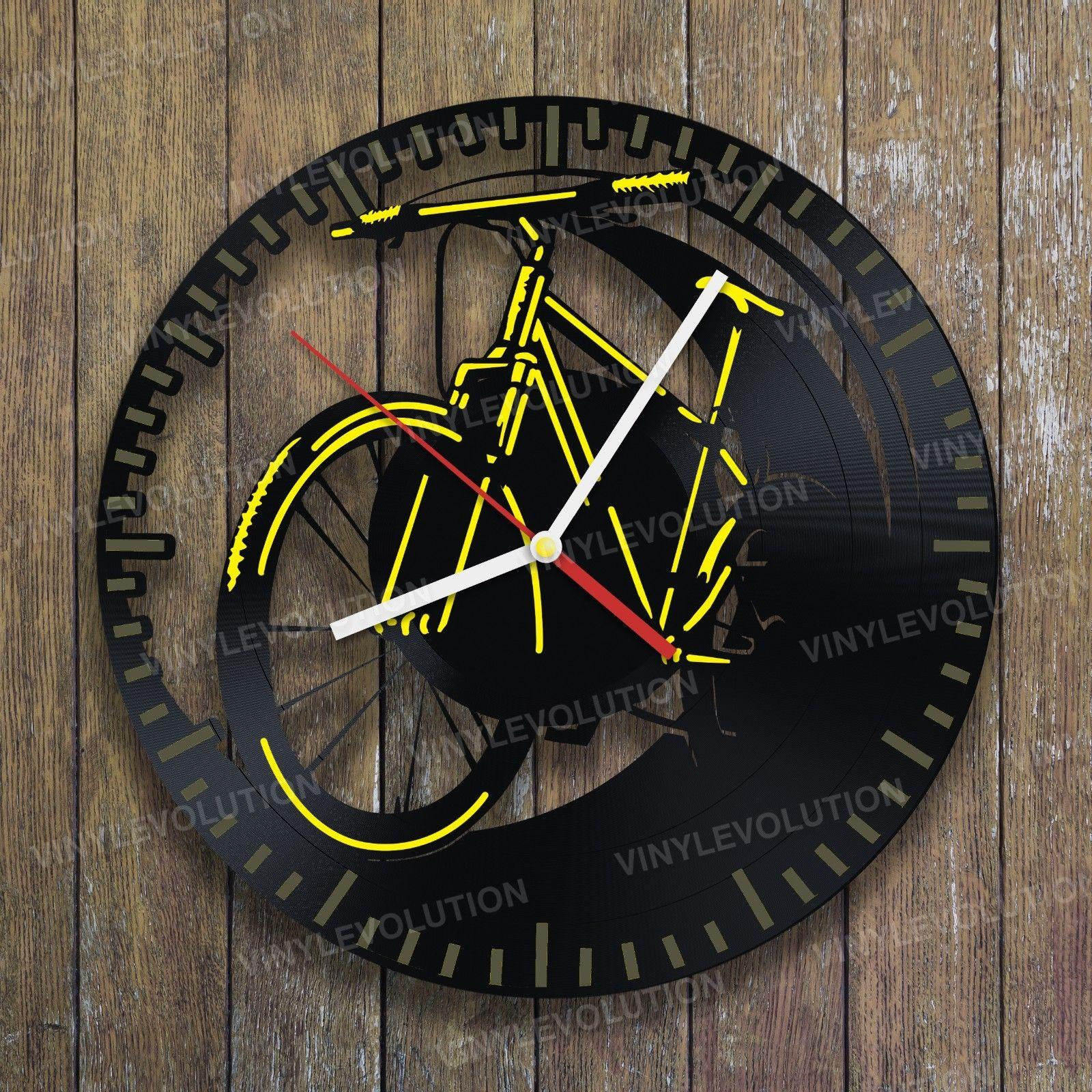 2017 new style and the best christmas vinyl wall clock for Bmx bedroom ideas