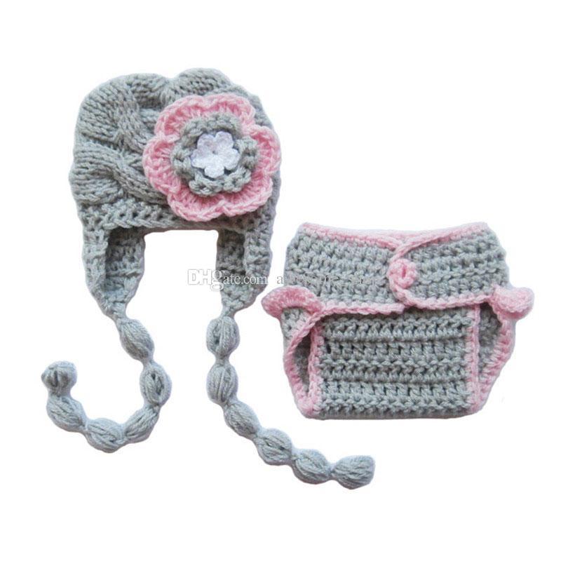 Compre Traje De Punto Recién Nacido, Crochet Hecho A Mano Bebé ...