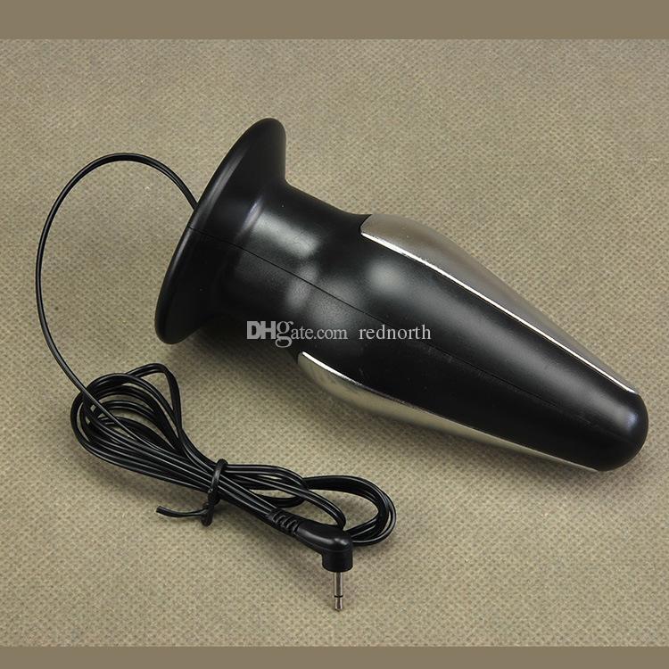 Elektro Şok Paslanmaz Çelik Boncuk Anal Plug Erkekler veya Kadınlar Için Seks Oyuncakları Elektrik Çarpması Terapi Butt Plug Masaj Tıbbi Seks Oyuncakları