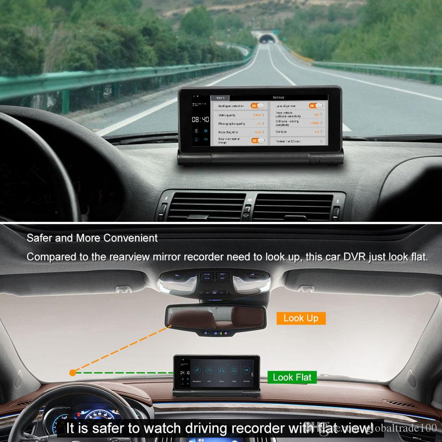 Compre 7 Polegada De Navegação GPS Do Carro Com Câmera Do Carro DVR 1080 P  Traço Cam Gravador Android Sistema De Bluetooth Wifi FM 16 GB EUA DA UE AU
