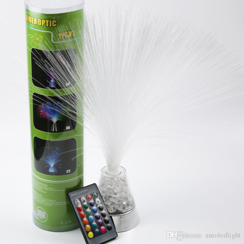 lava lamp Fiber Optic Lamp Colour Changing Crystal Base - 4 Colours - 13 Inch Mood Novelty Lamp