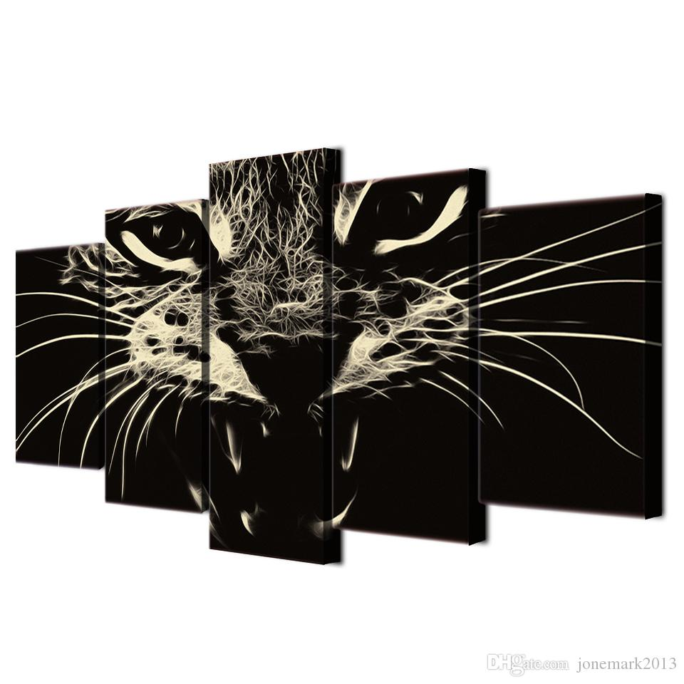 Framed HD Printed Cat Group Painting wall art room decor print poster picture canvas /ny-1251
