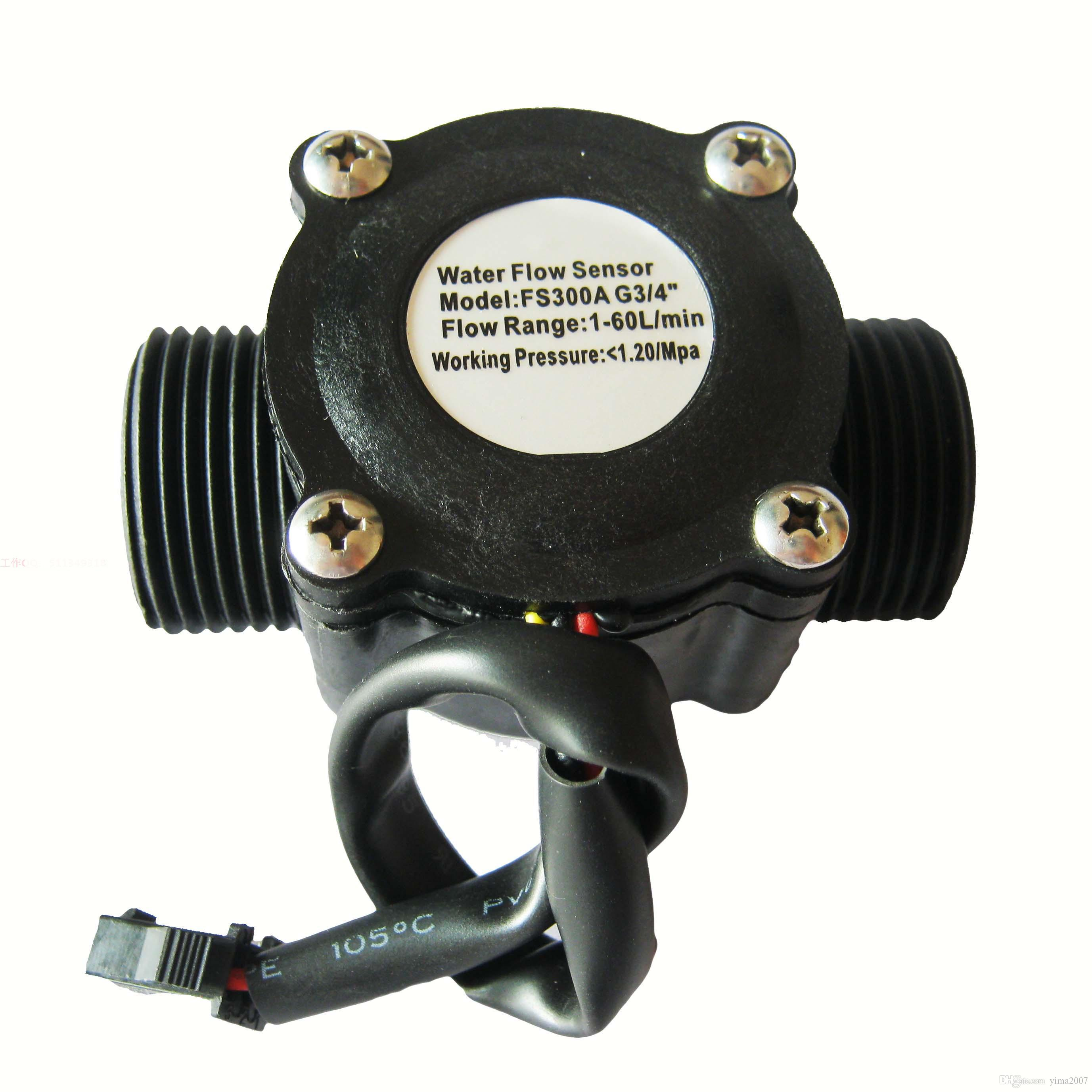 Medidor de flujo de agua Hall flow Sensor Indicador del interruptor de flotador de la piscina del caudalímetro Contador para el indicador de combustible del calentador de agua 1-60L / min G3 / 4
