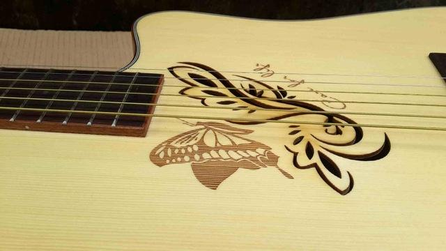 wholesale butterfly hole new design acoustic electric guitar very good quality good sound cheap. Black Bedroom Furniture Sets. Home Design Ideas