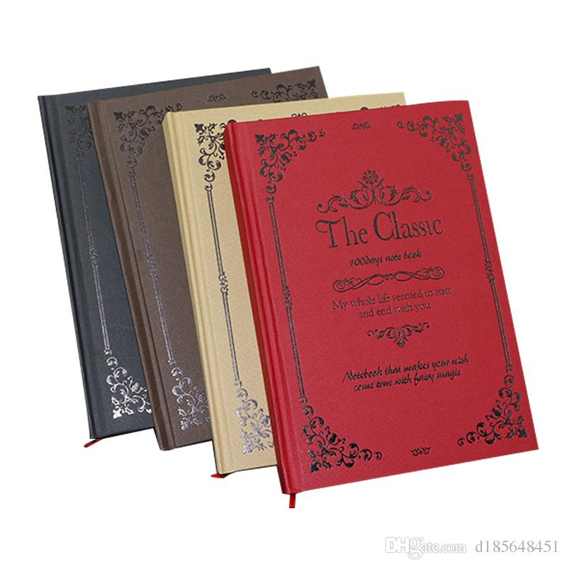 Notebook A5 retro hard noodle notebook stationery high-end business book