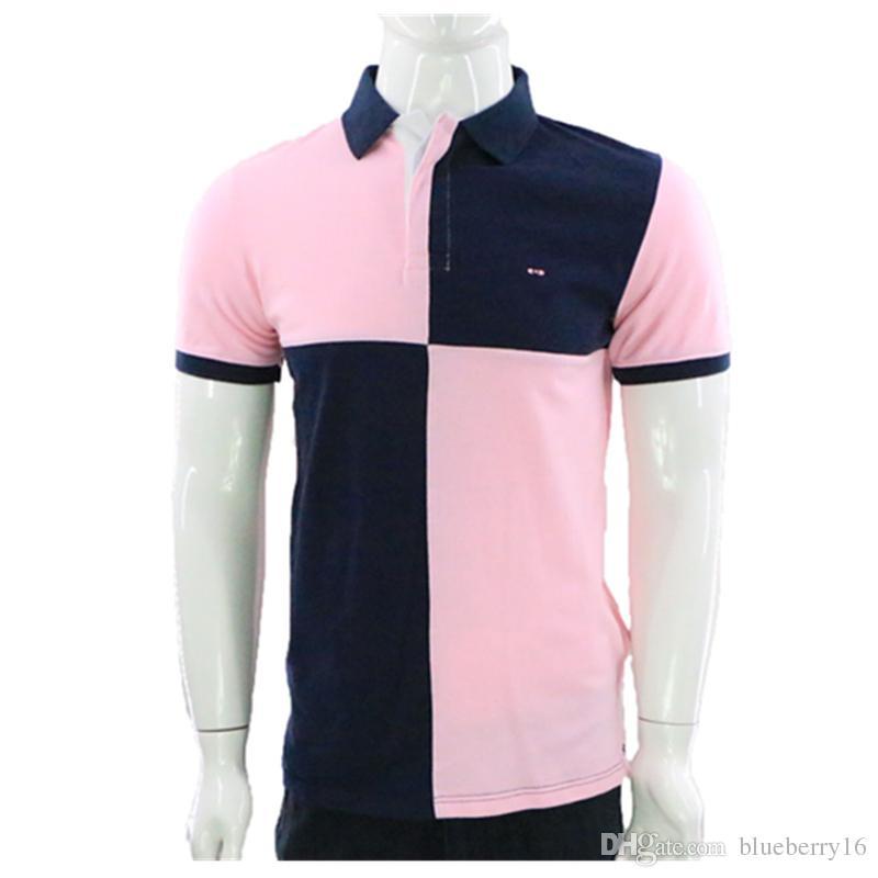 38e22f5cd8 Compre Novo Verão Homens Brand Eden Park Short Polo Vestuário Famoso Camisa  Masculina Mens Polos Casual Sportswear Respirável De Blueberry16