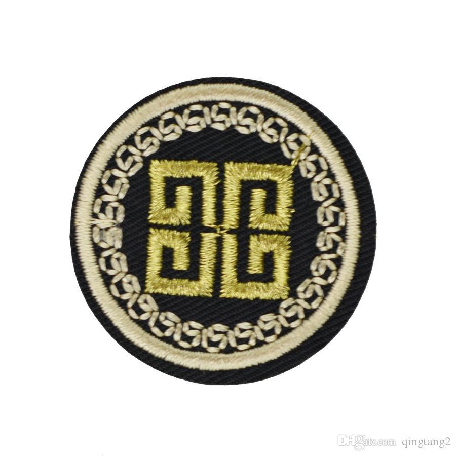 distintivo del cerchio patch ricamo abbigliamento ferro patch vestiti applique accessori cucire su adesivi vestiti ferro sulla zona diy