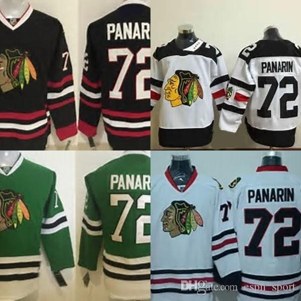 quality design c92c0 168fa Factory Outlet Mens Chicago Blackhawks 72 Artemi Panarin Black Green White  Best Quality Hot Sale Cheap Embroidery Logo Ice Hockey Jerseys
