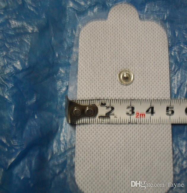 400 stücke Große rechteckige selbstklebende Tens einheit massage Ersatz elektrodenpads für ems therapie abnehmen massage maschine 5 * 9 über dhl