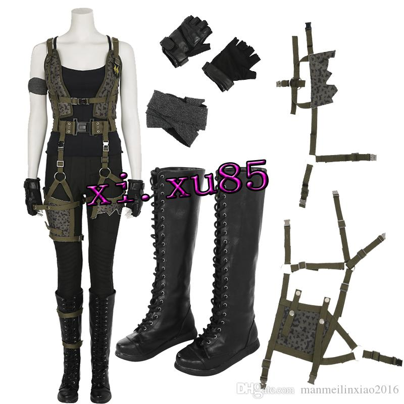 Resident Evil The Final Chapter Alice Cosplay Costume Full Set With Boots Halloween Customize Gloves Top Animal Halloween Costumes Unique Costumes From ...  sc 1 st  DHgate.com & Resident Evil: The Final Chapter Alice Cosplay Costume Full Set With ...