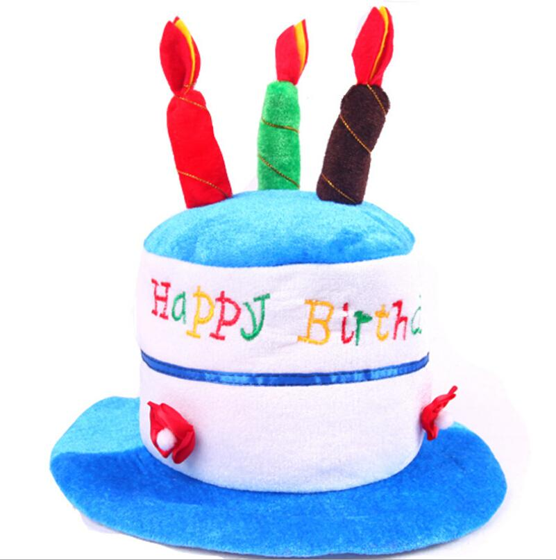Wholesale Childrens Funny Happy Birthday Cake Hat Candle Hat For Birthday Party Costume Children