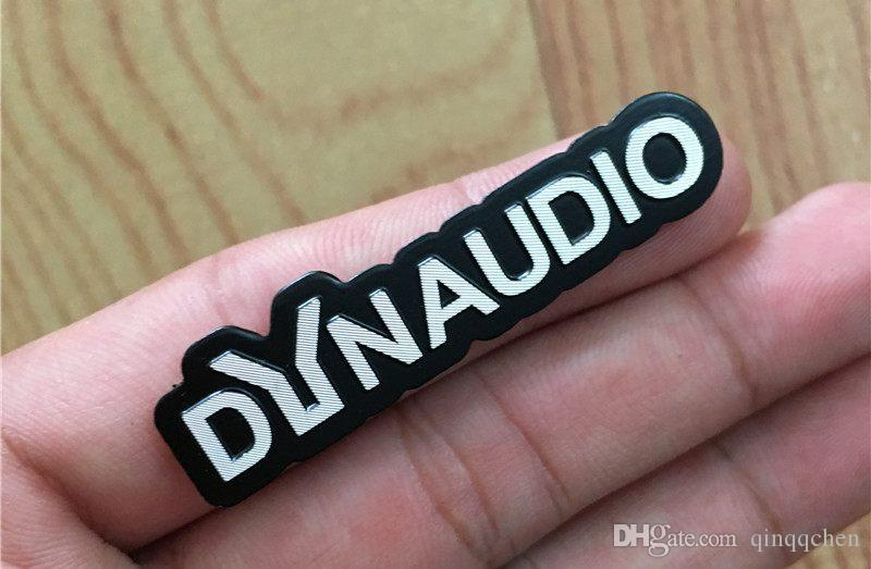 For Volkswagen VW CC New Beetle DYNAUDIO Fender speaker 3D aluminum sticker Emblem Decoration Car Sound Audio Decals